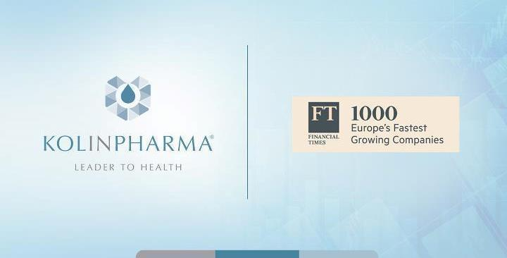 Per il terzo anno consecutivo KOLINPHARMA<sup>®</sup> è nella classifica FT1000 - Europe's Fastest Growing Companies del Financial Times